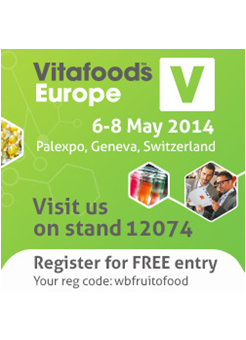 Fruitofood vous attend au Vitafoods 2014